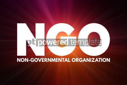 Business: NGO - Non-Governmental Organization acronym business concept ba #16914