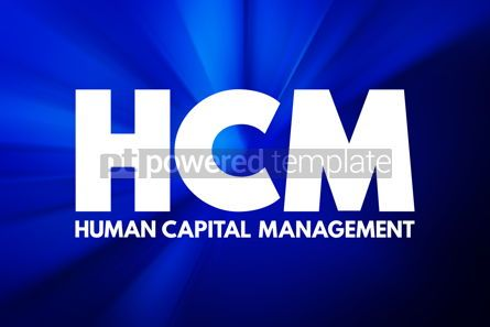 Business: HCM - Human Capital Management acronym business concept backgro #16915