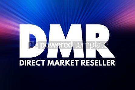 Business: DMR - Direct Market Reseller acronym business concept backgroun #16916