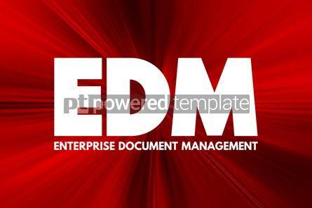 Business: EDM - Enterprise Document Management acronym business concept b #16917