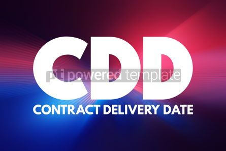 Business: CDD - Contract Delivery Date acronym business concept backgroun #16919