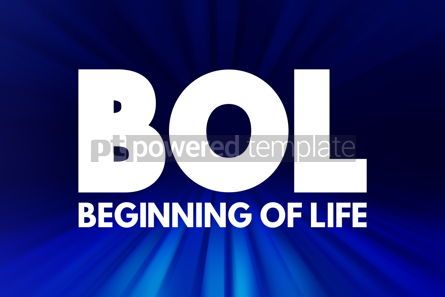 Business: BOL - Beginning of Life acronym concept background #16921