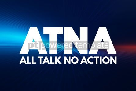 Business: ATNA - All Talk No Action acronym concept background #16925