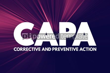 Business: CAPA - Corrective and preventive action acronym business concep #16935