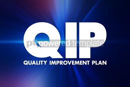 Business: QIP - Quality Improvement Plan acronym health concept backgroun #16937