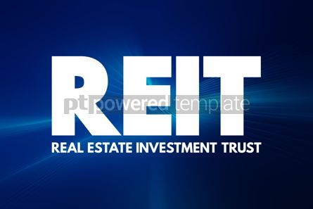 Business: REIT - Real Estate Investment Trust acronym business concept ba #16939