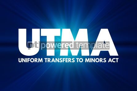 Business: UTMA - Uniform Transfers to Minors Act acronym law concept back #16947