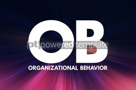 Business: OB - Organizational Behavior acronym business concept backgroun #16960