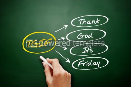 Business: TGIF - Thank God It's Friday acronym concept #16964