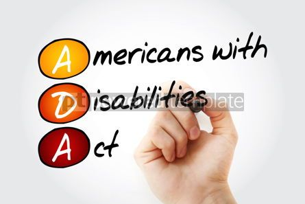 Business: ADA - Americans with Disabilities Act acronym #17027
