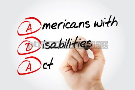 Business: ADA - Americans with Disabilities Act acronym #17028