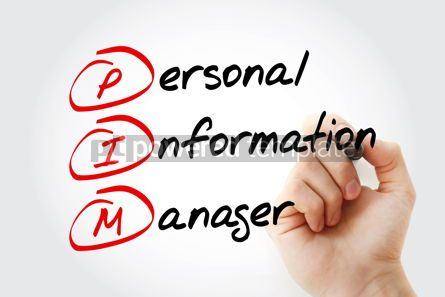Business: PIM - Personal Information Manager acronym #17032