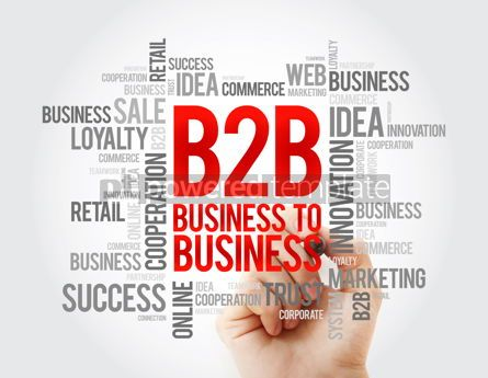 Business: B2B - Business To Business word cloud concept background #17060