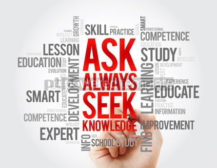 Business: ASK - Always Seek Knowledge word cloud education business conce #17062