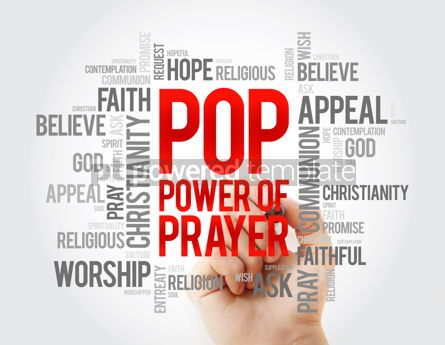 Business: POP - Power Of Prayer word cloud concept background #17065