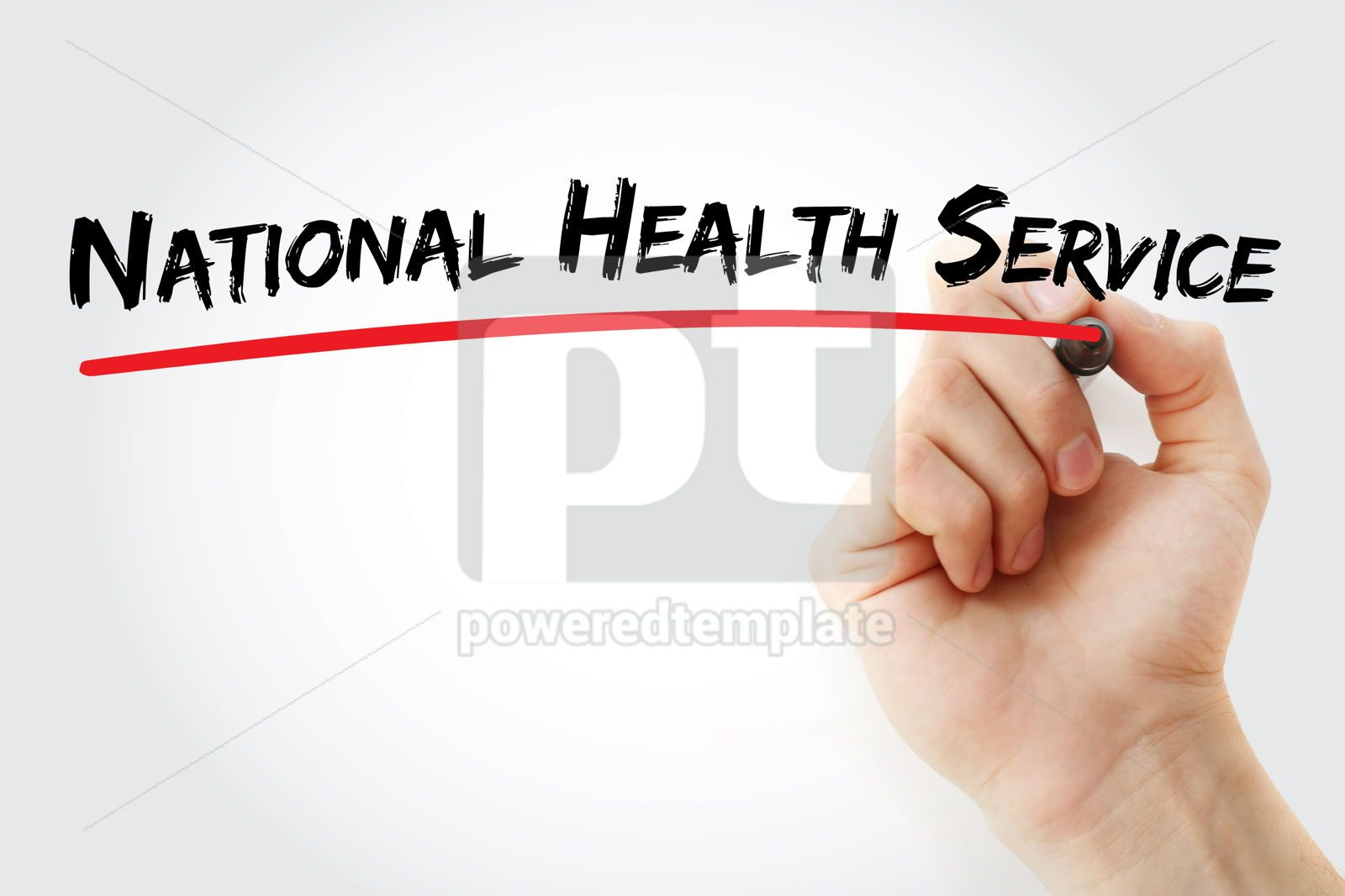 National Health Service text medical concept background, 17070, Business — PoweredTemplate.com