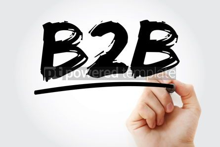 Business: B2B - Business To Business acronym concept background #17087