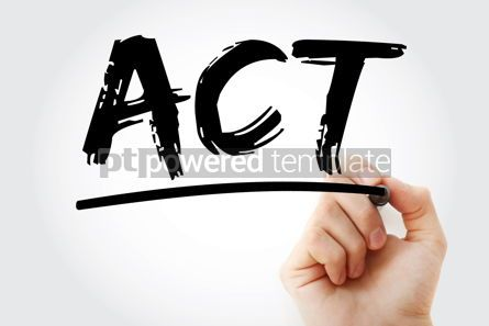 Business: ACT - Action Changes Things acronym business concept background #17093