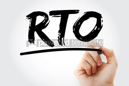 Business: RTO - Recovery Time Objective acronym business concept backgrou #17099