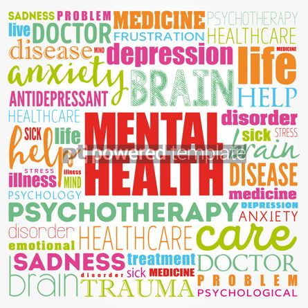 Business: Mental health word cloud collage health concept background #17111