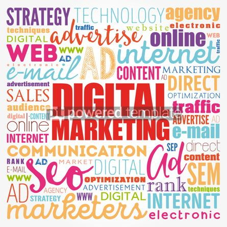 Business: Digital Marketing word cloud collage business concept backgroun #17114