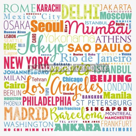 Business: Word cloud concept made with words cities names business concep #17115