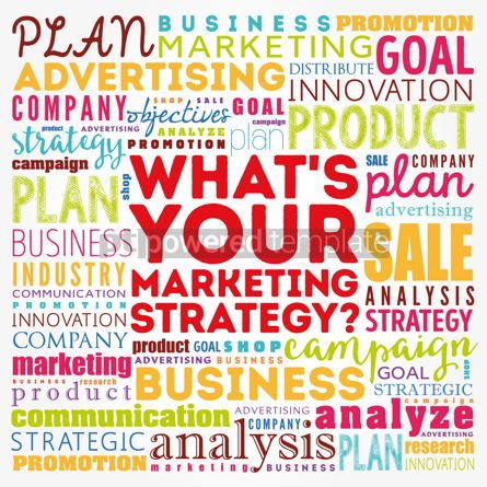 Business: What's Your Marketing Strategy word cloud collage business conc #17118