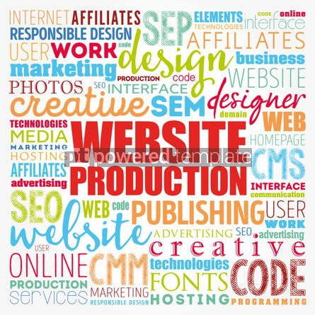 Business: Website production process word cloud technology concept backgr #17119