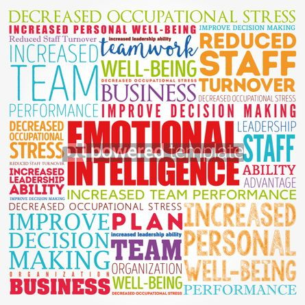 Business: Emotional intelligence word cloud collage business concept back #17121