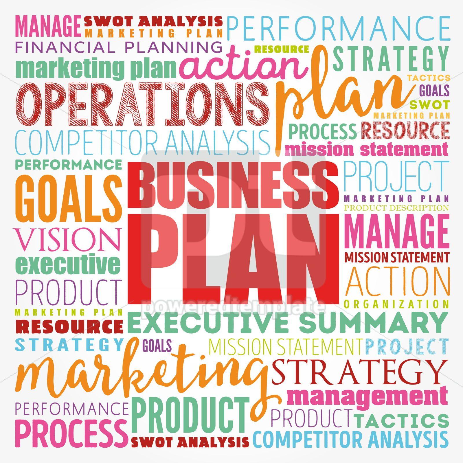 Business plan word cloud collage business concept background, 17124, Business — PoweredTemplate.com