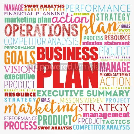 Business: Business plan word cloud collage business concept background #17124