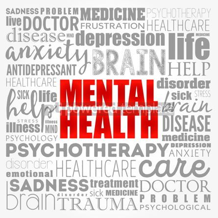 Business: Mental health word cloud collage health concept background #17127