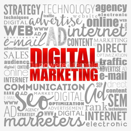 Business: Digital Marketing word cloud collage business concept backgroun #17130