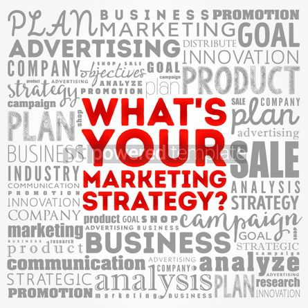 Business: What's Your Marketing Strategy word cloud collage business conc #17133