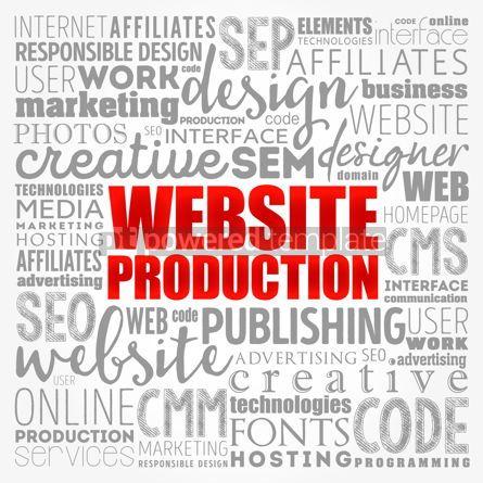Business: Website production process word cloud technology concept backgr #17134