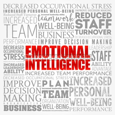 Business: Emotional intelligence word cloud collage business concept back #17136