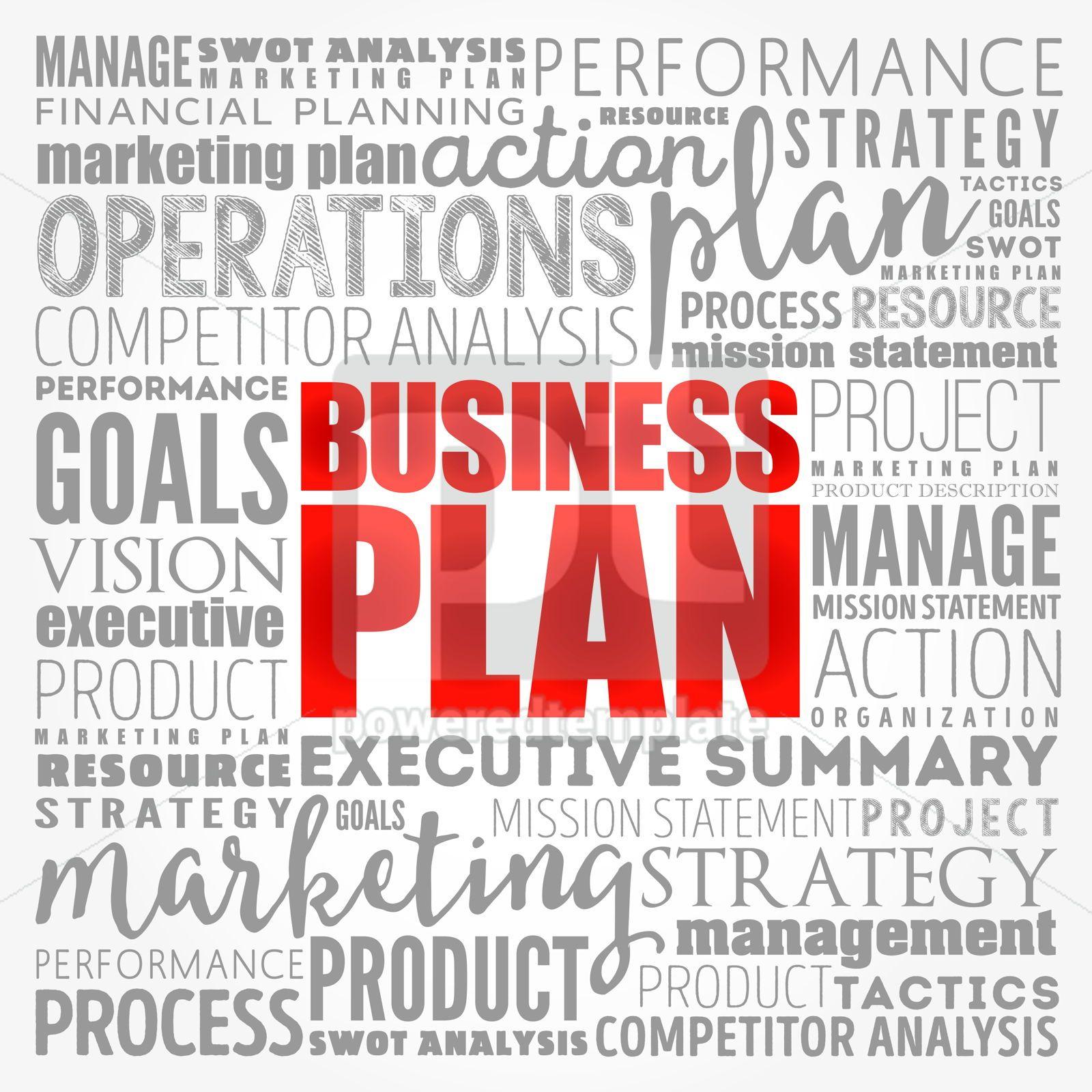 Business plan word cloud collage business concept background, 17139, Business — PoweredTemplate.com