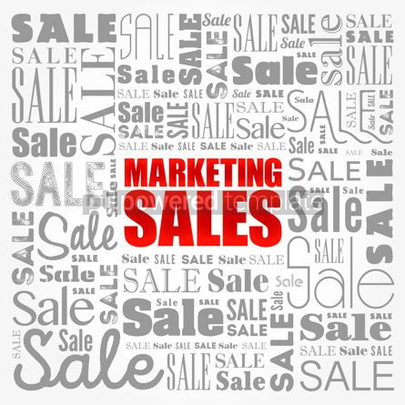 Business: Marketing Sales word cloud business concept background #17162