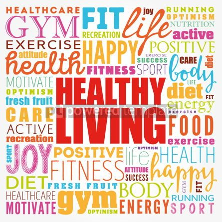 Business: Healthy Living word cloud collage health concept background #17173