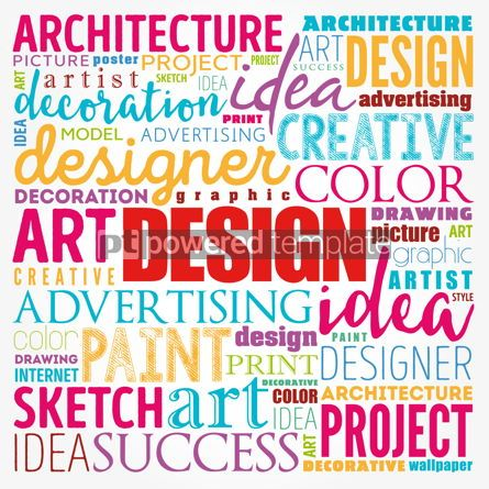 Business: DESIGN word cloud collage creative business concept background #17175