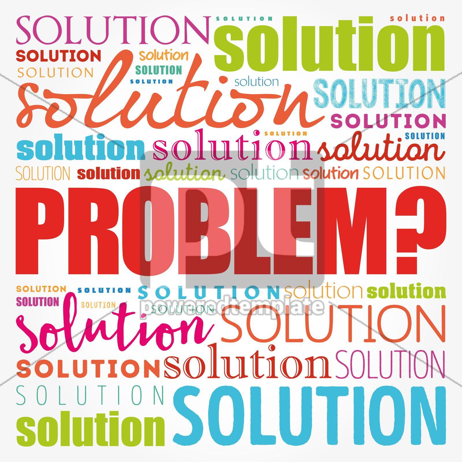 Problem and solution word cloud collage business concept backgr, 17176, Business — PoweredTemplate.com