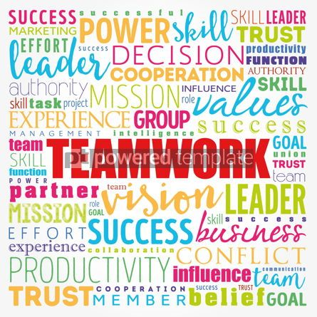 Business: TEAMWORK word cloud collage business concept background #17185