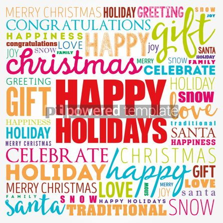 Business: Happy Holidays word cloud collage holiday concept background #17188