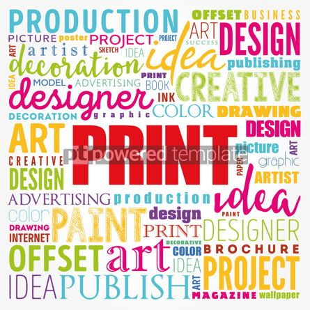 Business: PRINT word cloud creative business concept background #17192