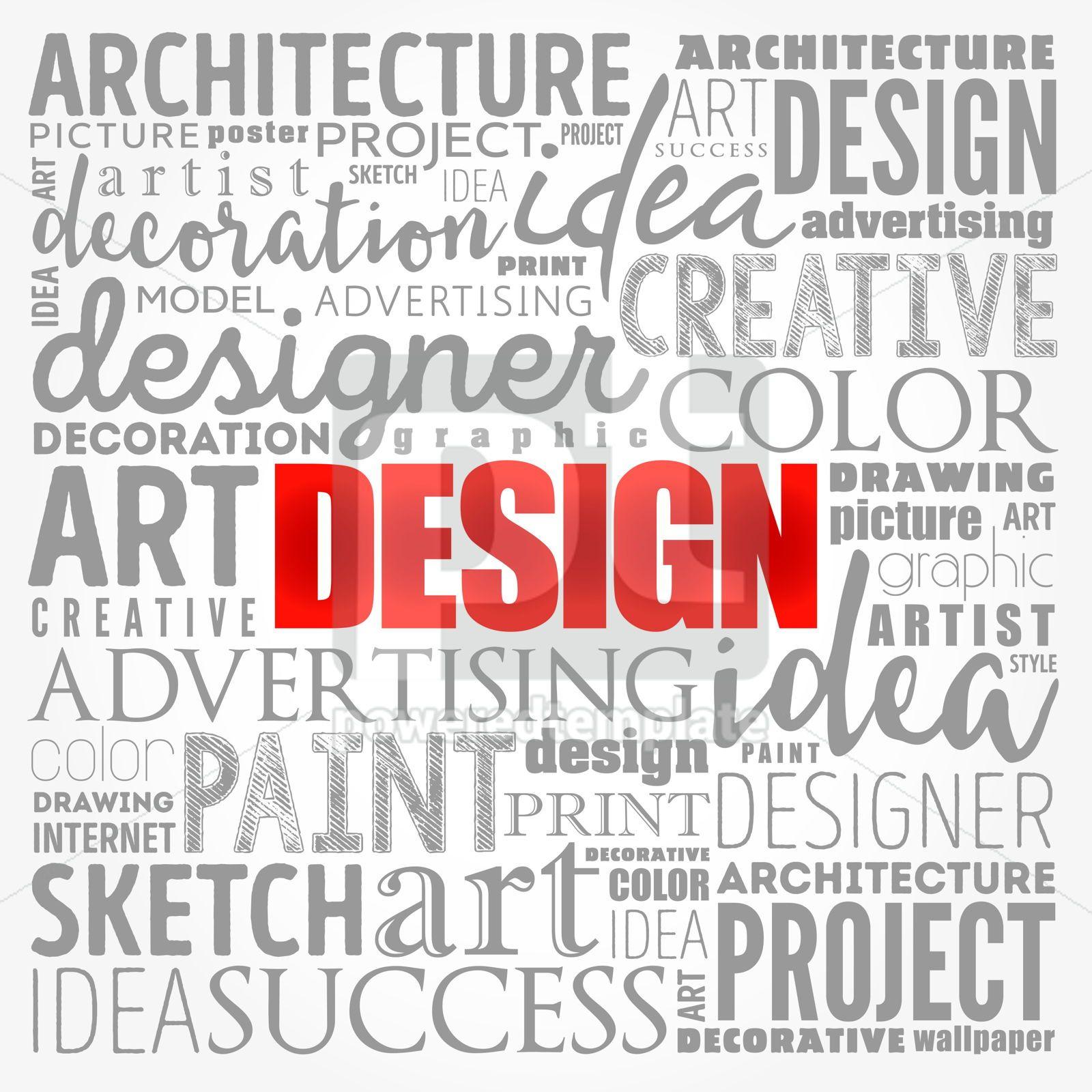 DESIGN word cloud collage creative business concept background, 17196, Business — PoweredTemplate.com