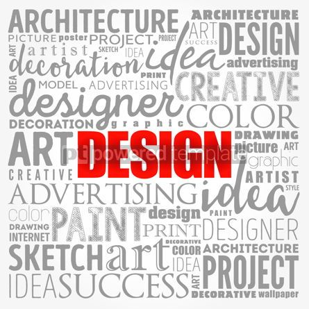 Business: DESIGN word cloud collage creative business concept background #17196