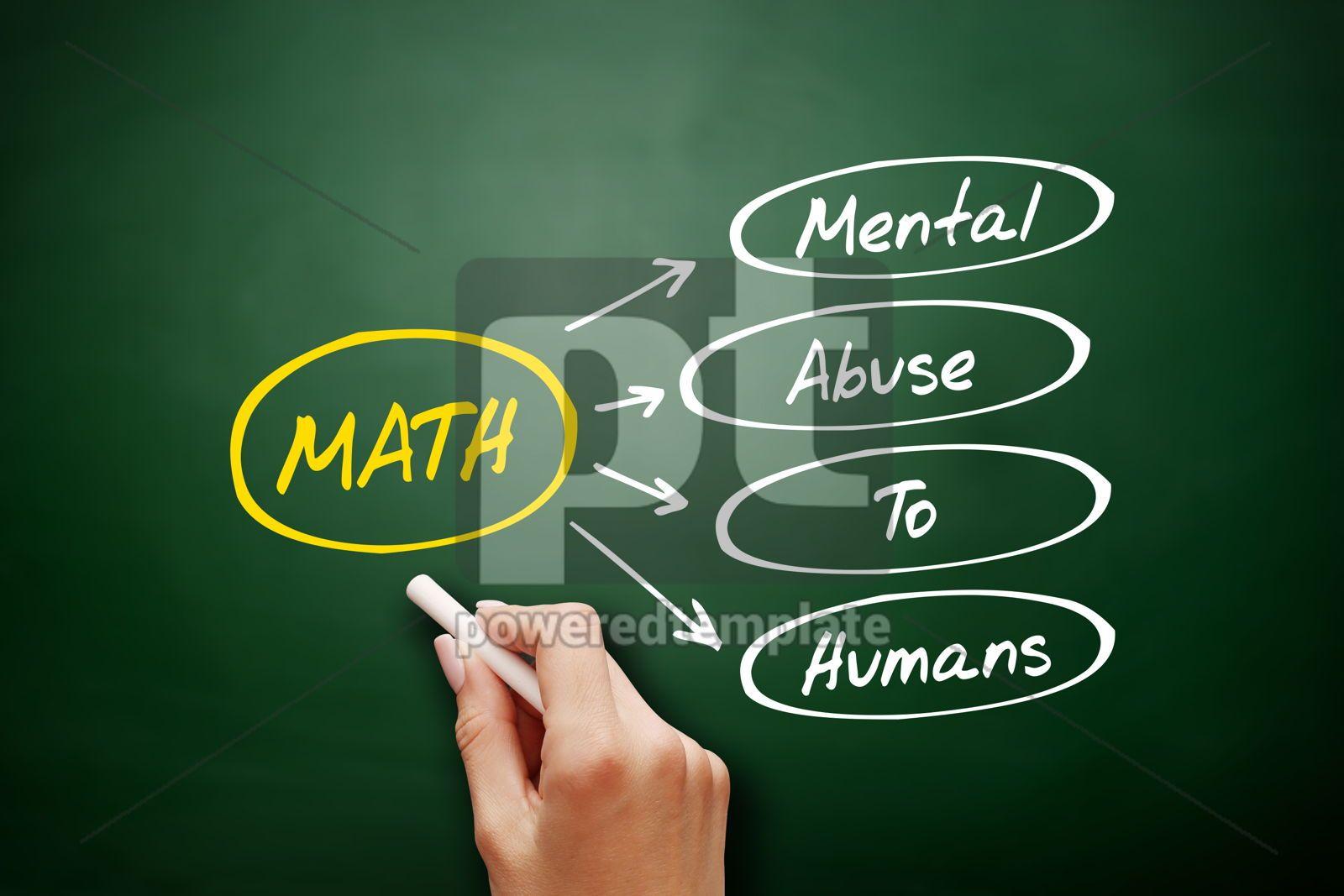 MATH - Mental Abuse To Humans acronym, 17204, Business — PoweredTemplate.com