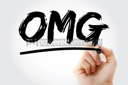 Business: OMG - Oh My God acronym with marker concept background #17241