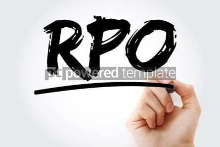Business: RPO - Recruitment Process Outsourcing acronym with marker conce #17245