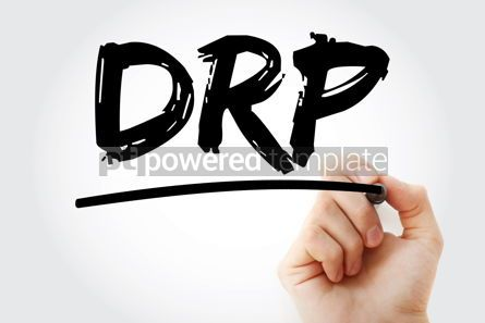 Business: DRP - Disaster Recovery Plan acronym text with marker concept b #17247